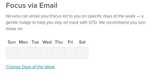 Focus email days